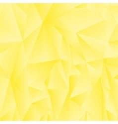 Abstract Yellow Polygonal Background vector image vector image