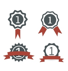 award medal icons vector image vector image