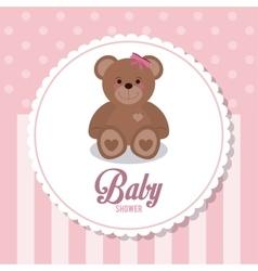 Baby shower design teddy bear icon vector