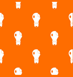 broken lightbulb pattern seamless vector image vector image
