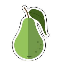 Cartoon pear fruit nutrition icon vector