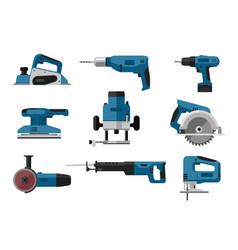 electric tools set vector image vector image