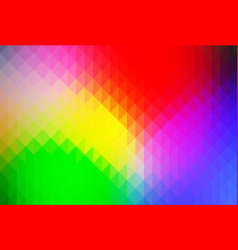Green blue yellow red rows of triangles background vector