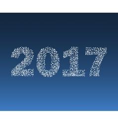 Happy New Year 2017 starburst vector image