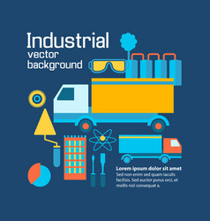 industrial flat infographic template vector image vector image