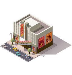 isometric cinema vector image