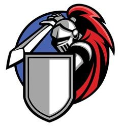 knight mascot vector image vector image