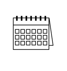 Line important calendar to remember special days vector