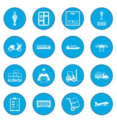 logistics icon blue vector image