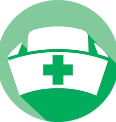 Nurse Hat Icon vector image vector image