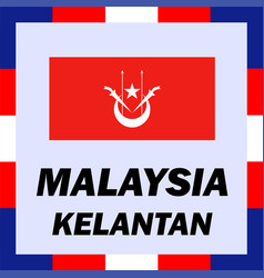 official ensigns flag and coat of arm of malaysia vector image vector image