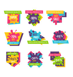 premium quality -90 off on vector image vector image