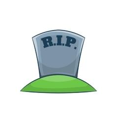 Rip on grave icon cartoon style vector