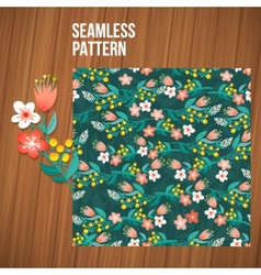 Seamless flower pattern set summer tiny floral vector