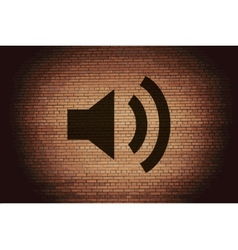Speaker Flat modern web button and space for your vector image