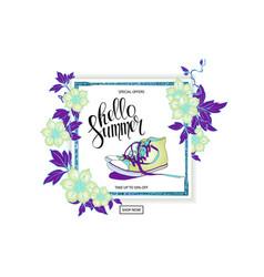 summer discount banner sneakers vector image