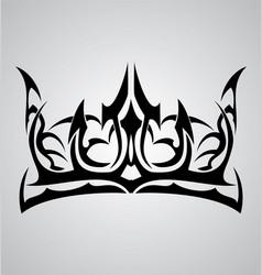 Tribal crown vector