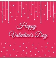 Valentines Day Vintage Lettering Background vector image