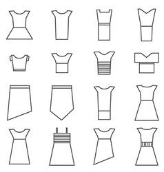 Women clothing icons set vector image