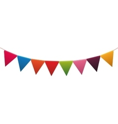 Pennant party celebration birthday icon vector