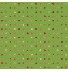 Grunge color dots vector