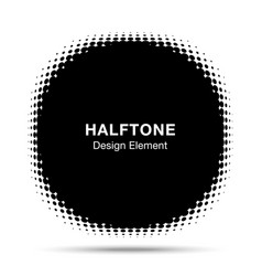 Convex distorted abstract halftone circle frame vector