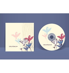 Cd cover design template eps 10 transparencies vector