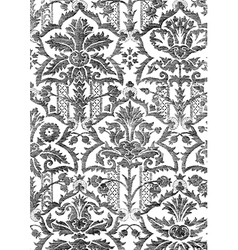 21 Abstract hand-drawn floral pattern vintage vector image vector image