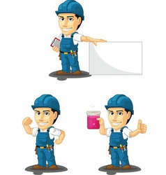 Technician or repairman mascot 6 vector