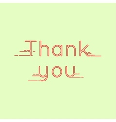 Thank you message card vector