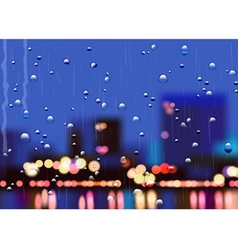 Rainy city streets vector