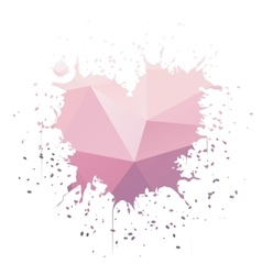 Heart-shaped ink splatter vector