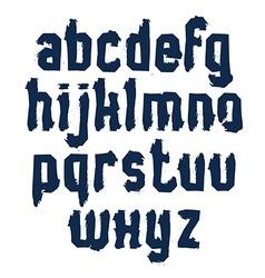 Handwritten monochrome dirty lowercase letters vector