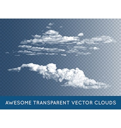 Transparent clouds set collection can be used with vector