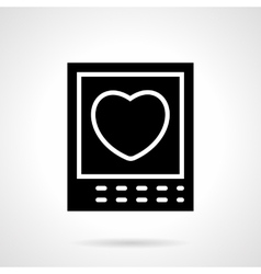 Heart card black silhouette icon vector