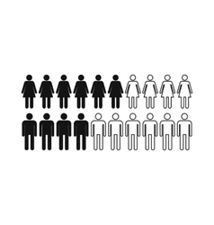 People icon simple style vector