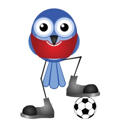 Birds soccer player red vector