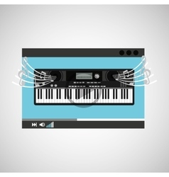Website music design vector