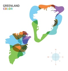Abstract color map of greenland vector