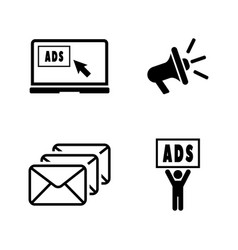 advertise simple related icons vector image