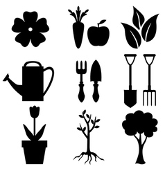 agro silhouette vector image vector image