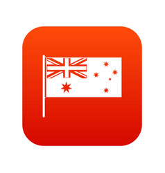 Australian flag icon digital red vector