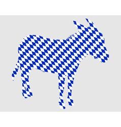 Bavarian donkey vector image