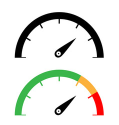Black and color speedometer icon vector