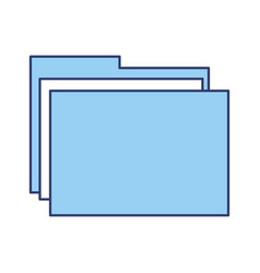 Blue folder cartoon vector