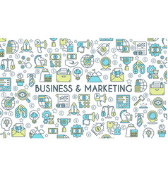 business and marketing banner vector image