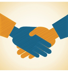 Businessman handshake background vector image
