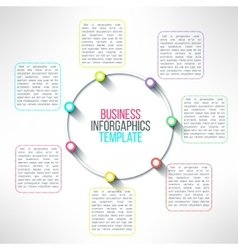 circle process infographics template vector image vector image