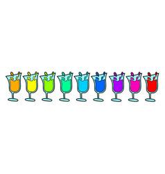 color drink set vector image vector image