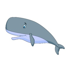 Cute sperm whale cartoon vector